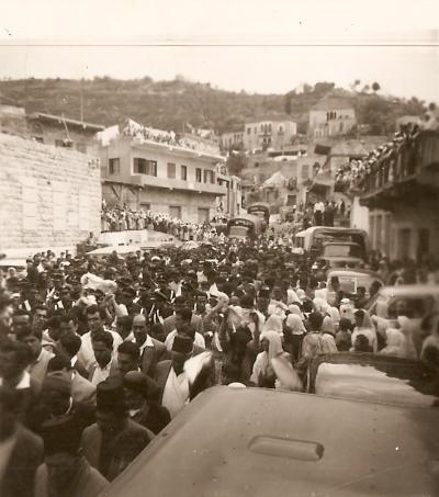 هنا في جنازة برجاوية على ساحة العين عام 1957